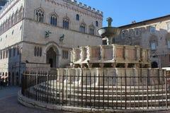 喷泉在佩鲁贾 免版税库存照片