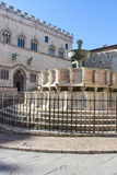 喷泉在佩鲁贾 库存图片