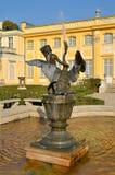 喷泉在公园在Wilanow 库存照片