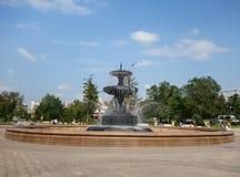 喷泉在公园 免版税图库摄影