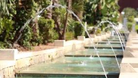 喷泉在公园 Rishon Lezion花园城市 以色列 股票视频