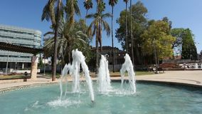 喷泉在公园 Rishon Lezion花园城市 以色列 影视素材