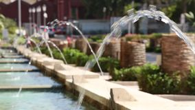 喷泉在公园 Rishon Lezion花园城市 以色列 股票录像