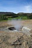 喷泉在冰岛 免版税库存图片