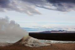 喷泉在冰岛 免版税库存照片