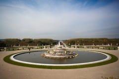 喷泉在凡尔赛 库存图片