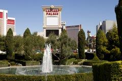喷泉在凯撒宫旅馆和赌博娱乐场里在拉斯维加斯,内华达 图库摄影