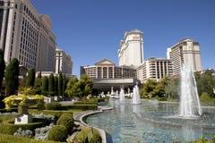 喷泉在凯撒宫旅馆和赌博娱乐场里在拉斯维加斯,内华达 库存图片