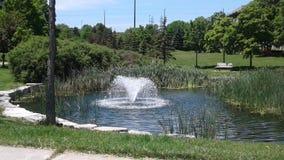 喷泉在吉恩奥古斯汀公园 库存照片