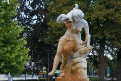 喷泉在埃斯基尔斯蒂纳的中心 免版税库存图片