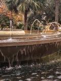 喷泉在城市 库存图片