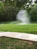 喷泉在夏天 库存图片