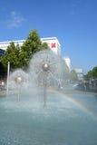 喷泉在德累斯顿 免版税库存照片