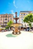 喷泉在戛纳 免版税库存图片