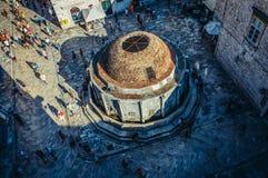 喷泉在杜布罗夫尼克 免版税库存图片