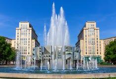 喷泉在柏林 免版税库存图片