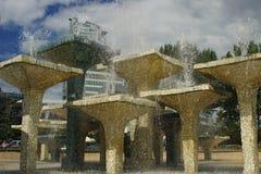喷泉在格丁尼亚 库存照片