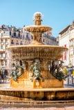 喷泉在格勒诺布尔市 免版税图库摄影