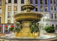 喷泉在格勒诺布尔 库存照片