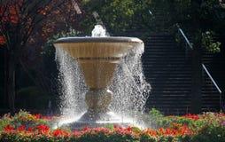 喷泉在横滨公园,日本 免版税库存图片