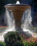 喷泉在横滨公园,日本 免版税图库摄影