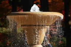 喷泉在横滨公园,采取在秋天 免版税库存图片