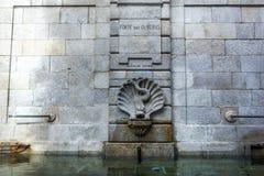 喷泉在波尔图 免版税库存图片