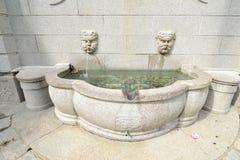 喷泉在澳门 库存图片