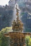 喷泉在爱丁堡公园  免版税图库摄影