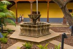 喷泉在特内里费岛房子里  图库摄影