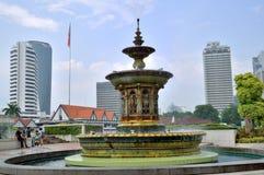 喷泉在独立报广场,吉隆坡 免版税库存图片