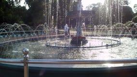 喷泉在班加罗尔公园 免版税库存照片