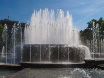 喷泉在米兰 免版税库存图片