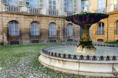 喷泉在艾克斯普罗旺斯(法国) 图库摄影