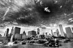 喷泉在芝加哥 免版税库存图片