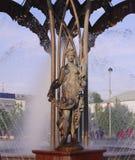 喷泉在西伯利亚 库存图片