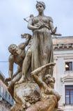 喷泉在西勒鸠斯 免版税库存图片