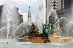 喷泉在费城 免版税库存照片