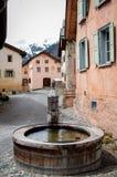 喷泉在阿尔卑斯 库存图片