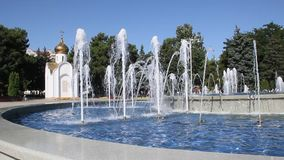 喷泉在阿纳帕,克拉斯诺达尔地区在南俄罗斯 影视素材