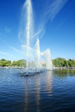 喷泉在高尔基公园,莫斯科,俄罗斯 免版税库存图片