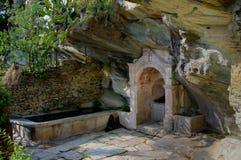 喷泉在Canelle -可西嘉岛(法国) 图库摄影