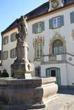 喷泉在Furstenfeldbruck,德国 库存照片