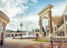 喷泉在Kislovodsk,俄罗斯, 10 Juny 2017年 库存图片