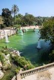 喷泉在Parc de la Ciutadella,巴塞罗那,西班牙 免版税图库摄影