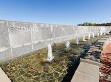 喷泉在Romare Reardon公园 免版税库存照片