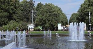 喷泉在Sokolniki公园 影视素材