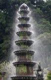 喷泉在Tirtagangga水宫殿  免版税库存照片