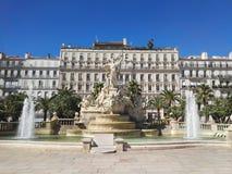 喷泉在Toulone 免版税库存图片
