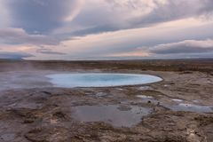喷泉地区在西南冰岛 免版税库存照片